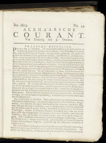 Alkmaarsche Courant 1803-10-31