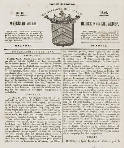 Weekblad van Den Helder en het Nieuwediep 1846-04-20