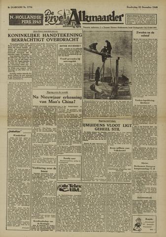 De Vrije Alkmaarder 1949-12-22