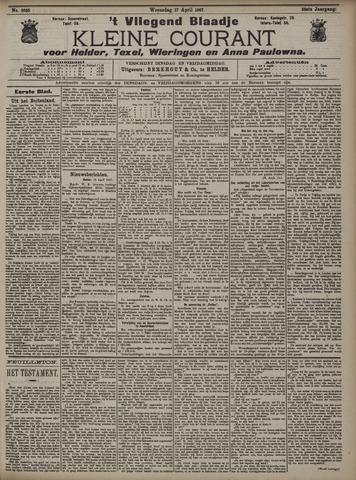 Vliegend blaadje : nieuws- en advertentiebode voor Den Helder 1907-04-17