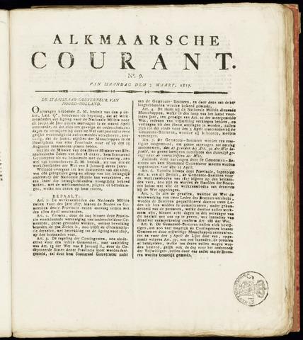 Alkmaarsche Courant 1817-03-03