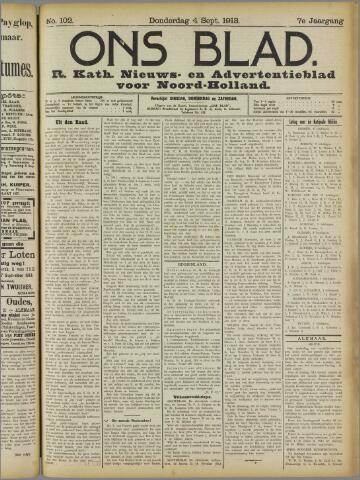 Ons Blad : katholiek nieuwsblad voor N-H 1913-09-04