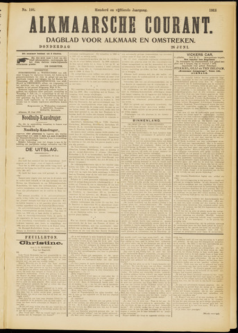 Alkmaarsche Courant 1913-06-26
