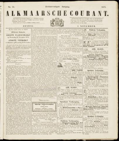 Alkmaarsche Courant 1874-11-01