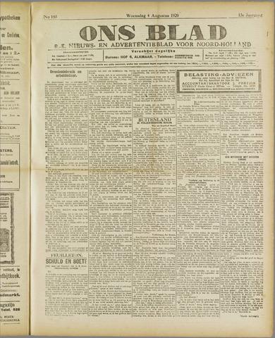 Ons Blad : katholiek nieuwsblad voor N-H 1920-08-04