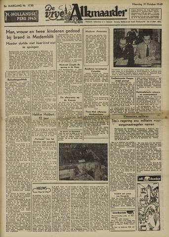 De Vrije Alkmaarder 1949-10-31