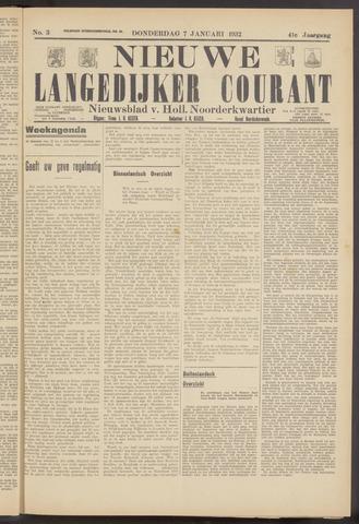 Nieuwe Langedijker Courant 1932-01-07