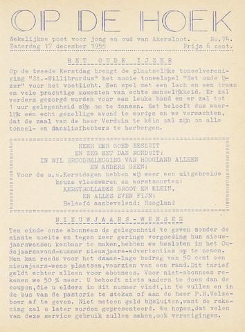 Op De Hoek, weekblad voor Akersloot 1955-12-17
