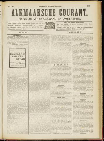 Alkmaarsche Courant 1911-11-07
