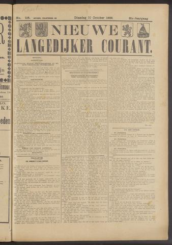 Nieuwe Langedijker Courant 1922-10-10