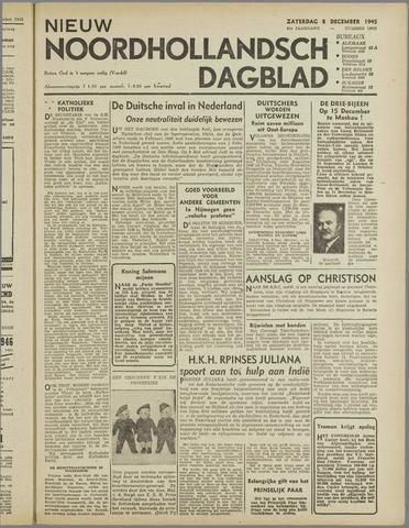 Nieuw Noordhollandsch Dagblad : voor Alkmaar en omgeving 1945-12-08