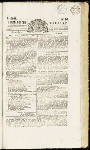 Alkmaarsche Courant 1842-04-18