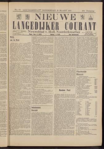 Nieuwe Langedijker Courant 1931-03-19