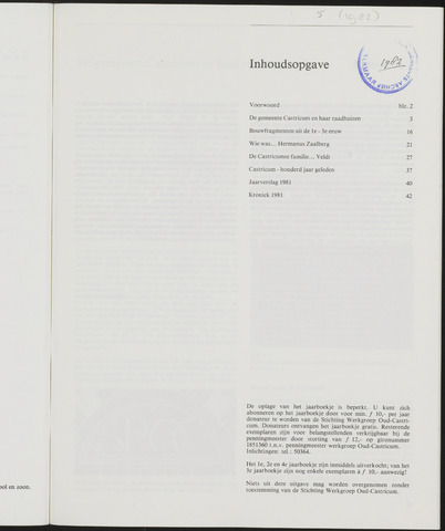 Jaarboek Oud Castricum 1982-11-01