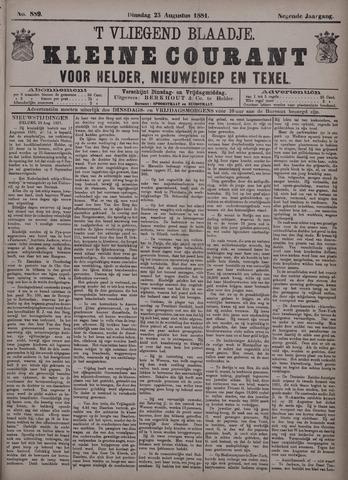 Vliegend blaadje : nieuws- en advertentiebode voor Den Helder 1881-08-23
