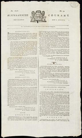 Alkmaarsche Courant 1817-08-11