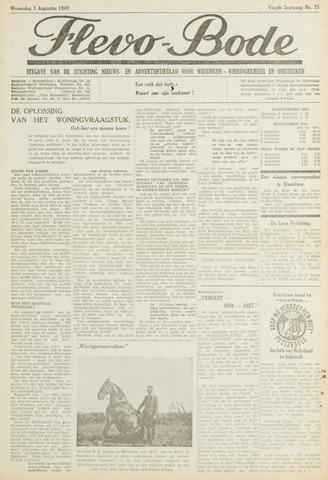 Flevo-bode: nieuwsblad voor Wieringen-Wieringermeer 1949-08-03