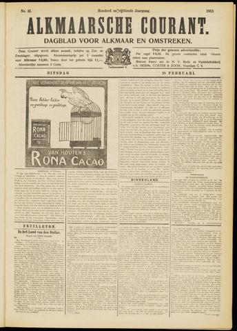 Alkmaarsche Courant 1913-02-18