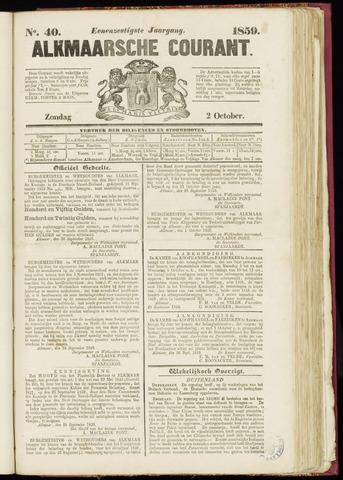 Alkmaarsche Courant 1859-10-02