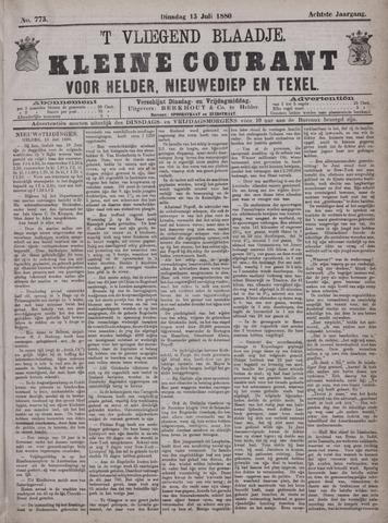 Vliegend blaadje : nieuws- en advertentiebode voor Den Helder 1880-07-13
