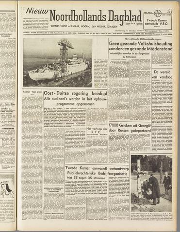 Nieuw Noordhollandsch Dagblad : voor Alkmaar en omgeving 1949-10-13