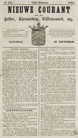 Nieuwe Courant van Den Helder 1865-09-30
