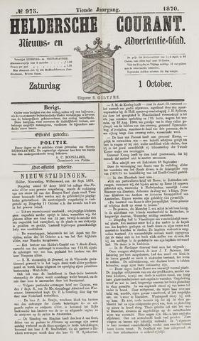 Heldersche Courant 1870-10-01