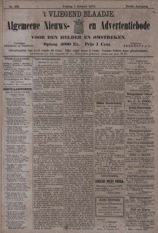 Vliegend blaadje : nieuws- en advertentiebode voor Den Helder 1875-01-01