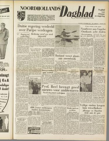 Noordhollands Dagblad : dagblad voor Alkmaar en omgeving 1954-11-13