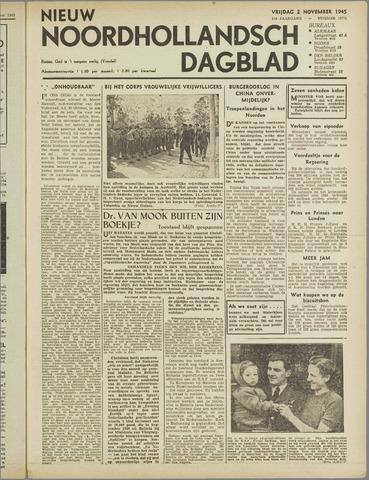 Nieuw Noordhollandsch Dagblad : voor Alkmaar en omgeving 1945-11-02