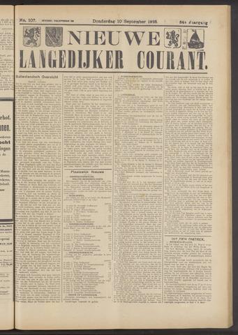 Nieuwe Langedijker Courant 1925-09-10