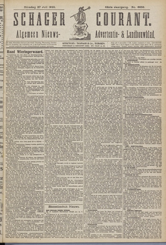 Schager Courant 1920-07-27