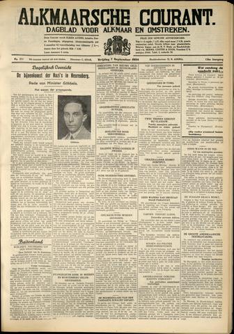 Alkmaarsche Courant 1934-09-07