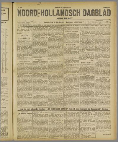 Ons Blad : katholiek nieuwsblad voor N-H 1922-12-20