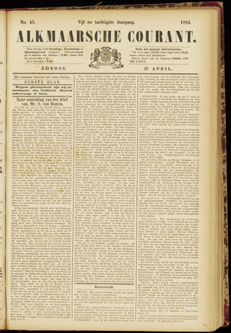 Alkmaarsche Courant 1883-04-22