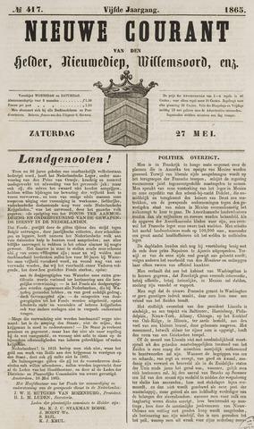 Nieuwe Courant van Den Helder 1865-05-27