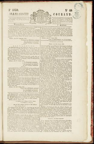 Alkmaarsche Courant 1850-10-07