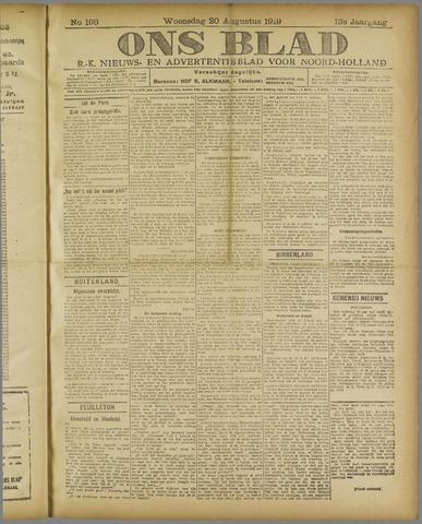 Ons Blad : katholiek nieuwsblad voor N-H 1919-08-20