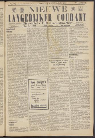 Nieuwe Langedijker Courant 1930-09-06