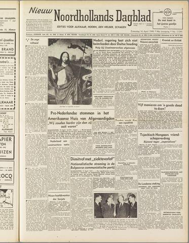 Nieuw Noordhollandsch Dagblad : voor Alkmaar en omgeving 1949-04-16