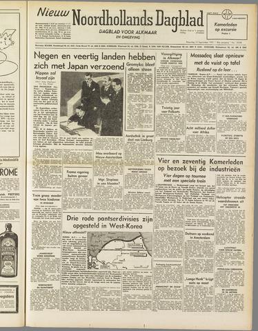Nieuw Noordhollandsch Dagblad : voor Alkmaar en omgeving 1951-09-10