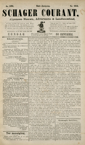Schager Courant 1881-01-30