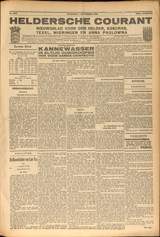 Heldersche Courant 1928-09-01