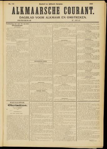 Alkmaarsche Courant 1913-07-17
