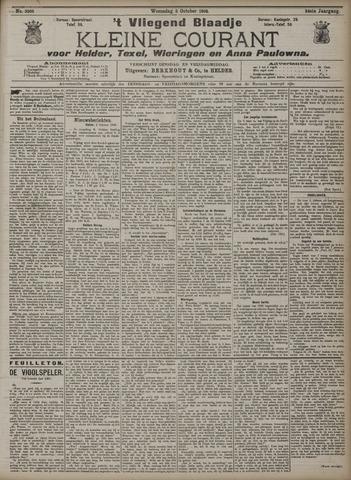 Vliegend blaadje : nieuws- en advertentiebode voor Den Helder 1906-10-03