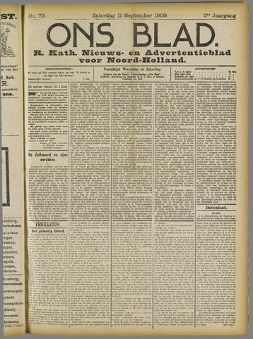 Ons Blad : katholiek nieuwsblad voor N-H 1909-09-11