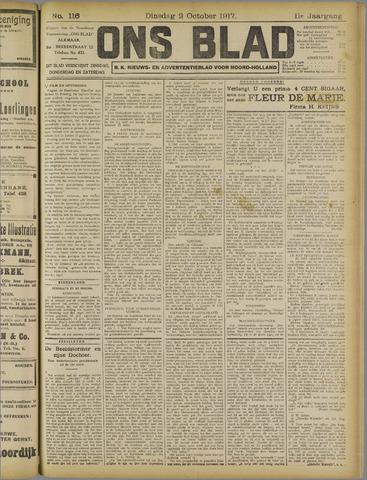 Ons Blad : katholiek nieuwsblad voor N-H 1917-10-02