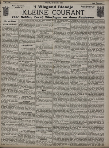 Vliegend blaadje : nieuws- en advertentiebode voor Den Helder 1908-10-17