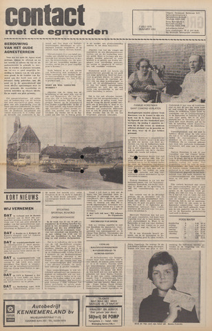 Contact met de Egmonden 1976-07-07