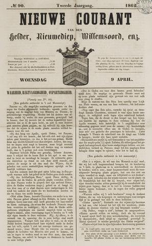 Nieuwe Courant van Den Helder 1862-04-09